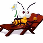 Bee in Lounge Chair Cropped